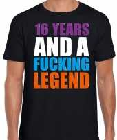 16 year legend 16 jaar legende cadeau t-shirt zwart heren
