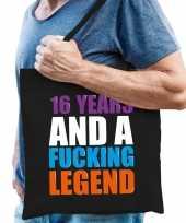 16 year legend 16 jaar legende cadeau tas zwart voor heren