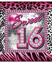 16e verjaardag servetten 25 x 25 cm 10138141