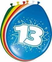 16x stuks ballonnen 13 jaar 30 cm