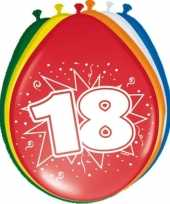 16x stuks ballonnen 18 jaar