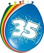16x stuks ballonnen 35 jaar