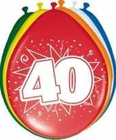 16x stuks ballonnen 40 jaar