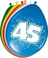 16x stuks ballonnen 45 jaar