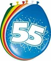 16x stuks ballonnen 55 jaar
