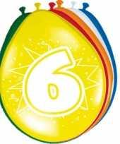 16x stuks ballonnen 6 jaar
