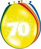 16x stuks ballonnen 70 jaar