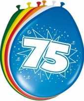 16x stuks ballonnen 75 jaar