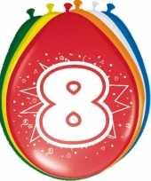 16x stuks ballonnen 8 jaar