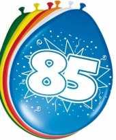 16x stuks ballonnen 85 jaar