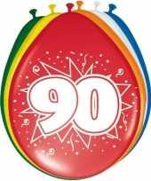 16x stuks ballonnen 90 jaar