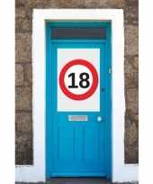 18 jaar verkeersbord deurposter a1