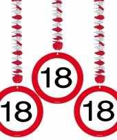 18 jaar versiering rotorspiralen stopbord 6 stuks