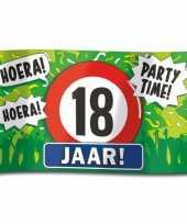 18e verjaardag straatvlag 100x150 cm
