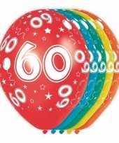 20x stuks 60 jaar thema versiering helium ballonnen 30 cm