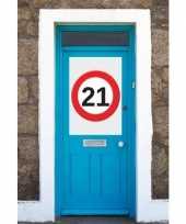 21 jaar verkeersbord deurposter a1