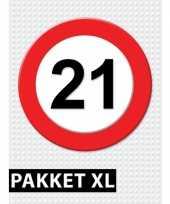 21 jarige verkeerbord decoratie pakket xl