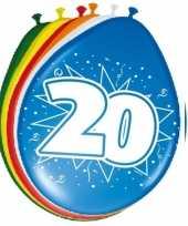 24x stuks ballonnen 20 jaar
