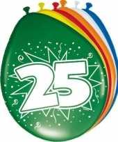 24x stuks ballonnen 25 jaar