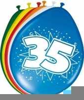24x stuks ballonnen 35 jaar