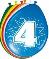 24x stuks ballonnen 4 jaar