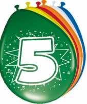 24x stuks ballonnen 5 jaar