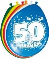 24x stuks ballonnen 50 jaar abraham