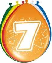 24x stuks ballonnen 7 jaar