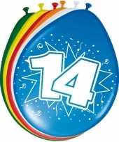 24x stuks leeftijd ballonnen 14 jaar