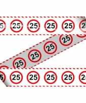 25e verjaardag markeerlint stopbord