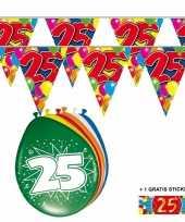 2x 25 jaar vlaggenlijn ballonnen