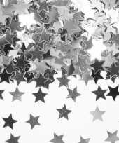 3 x stuks zilveren sterren confetti zakje 14 gram