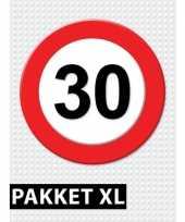30 jarige verkeerbord decoratie pakket xl