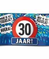 30e verjaardag straatvlag 100x150 cm