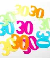 36x mega confetti 30 jaar gekleurd