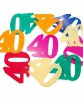 36x mega confetti 40 jaar gekleurd