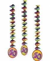 3x feestartikelen 50 jaar spiraal