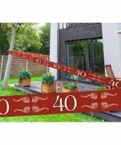 40 jaar decoratie markeerlint
