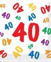 40 jaar servetten 16 stuks
