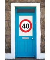 40 jaar verkeersbord deurposter a1