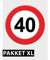 40 jarige verkeerbord decoratie pakket xl