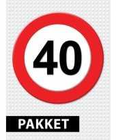 40 jarige verkeerbord decoratie pakket