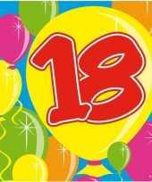40x 18 jaar leeftijd themafeest servetten balloons 25 x 25 cm