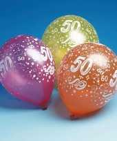 50 jaar feest ballonnen 5 stuks