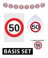 50 jaar versiering pakket verkeersbord basic