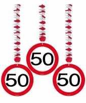 50 jaar versiering stopbord