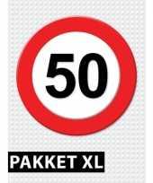 50 jarige verkeerbord decoratie pakket xl