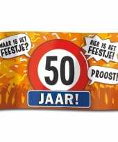 50e verjaardag straatvlag 100x150 cm 10112185