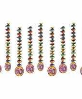 60 jaar decoratie spiralen 9x