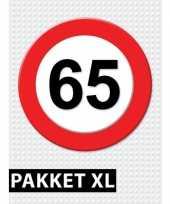 65 jarige verkeerbord decoratie pakket xl